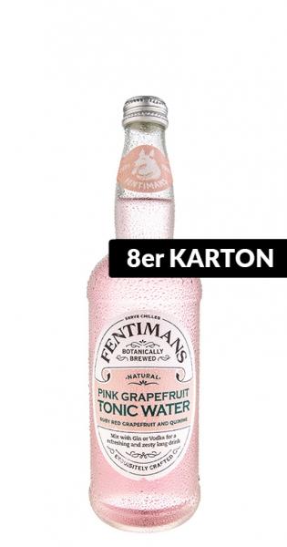 Fentimans - Pink Grapefruit Tonic Water, 500ml - 8 Glas-Flaschen