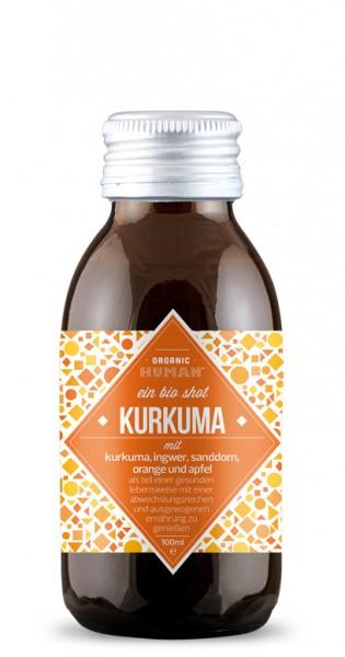 Organic Human - Organic Shot, Kurkuma, 100ml - Glas-Flasche
