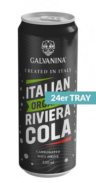 Galvanina - BIO lemonade, Riviera Cola (IT-BIO-008), 0.33l - 24 Cans