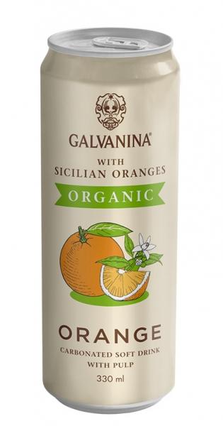 Galvanina - BIO lemonade, Orange (IT-BIO-008), 330ml - Dose