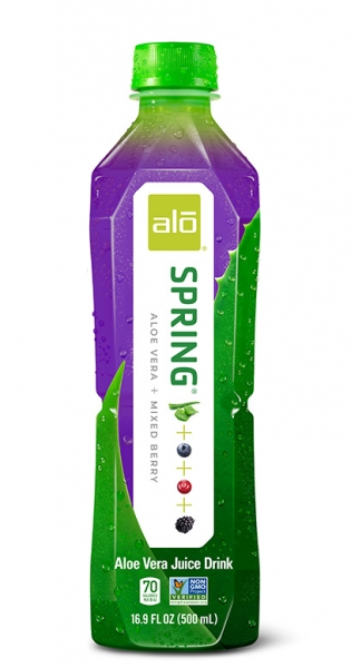 Alo - Aloe Vera Drink - Spring, Mixed Berries, 500ml - PET-Flasche