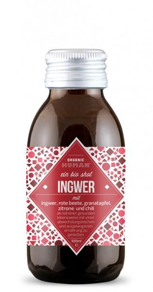 Organic Human - Organic Shot, Ingwer, 100ml - Glas-Flasche