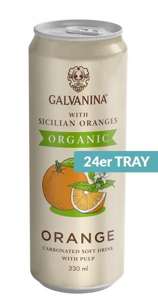 Galvanina - BIO lemonade, Orange (IT-BIO-008), 330ml - 24 Dosen
