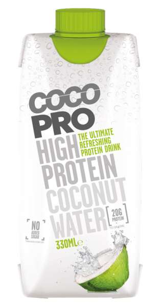 CocoPro - Coconut Water with Protein, Pure, 330ml - Tetra-Pak