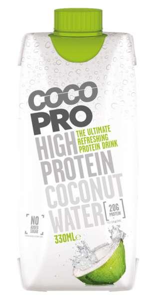 CocoPro - Protein Coconut Water, Pure, 0,33L - Tetra-Pak