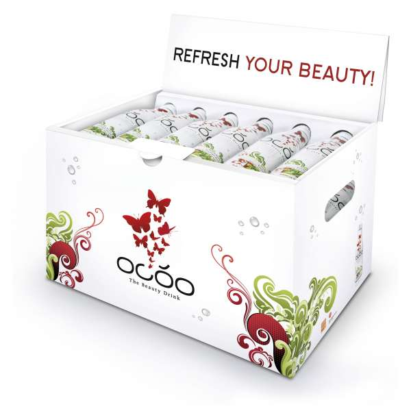 Ocoo - 30er BeautyBox, 0,25L - 30 Alu-Flaschen in der BeautyBox