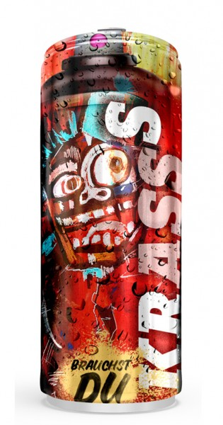 Krasss Drink - Youuu need, Crass taste, 0.25l - Can