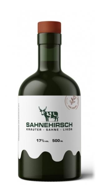 Sahnehirsch - Kräuter, Sahne, Likör, 500ml - Glas-Flasche