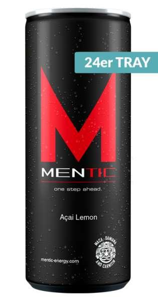 Mentic Energy Drink - Acai und Lemon, 250ml - 24 Dosen