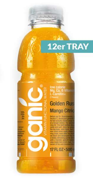 ganic Vitaminwater - Sport, Golden Rush, Mango Citric Ca, 500ml - 12 PET-Flasche