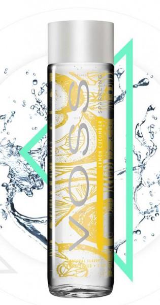 Voss Water - Premium Wasser - Lemon and Cucumber, sparkling, 375ml - Glas-Flasche