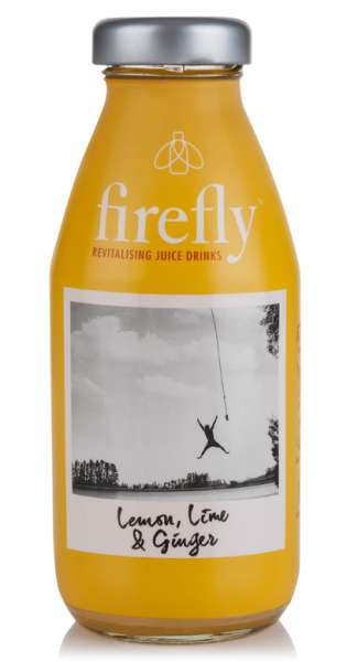 firefly - Revitalising Juice Drinks, Lemon, Lime and Ginger, 330ml - Glas-Flasche