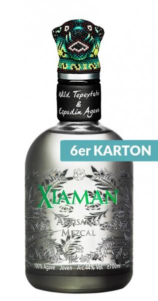 Xiaman - Artisanal Mezcal, 700ml - 6 Glas-Flaschen