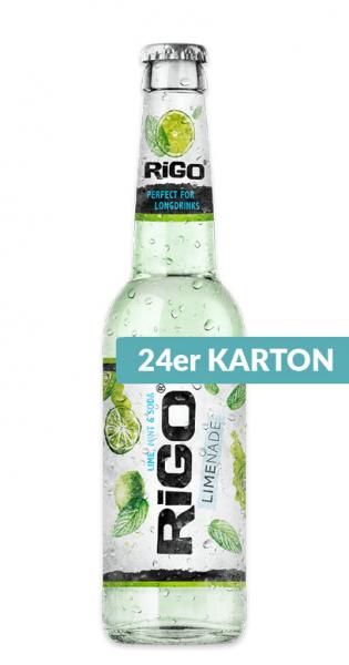 Rigo - Limenade, Lime, Mint and Soda, 330ml - 24 Glas-Flaschen