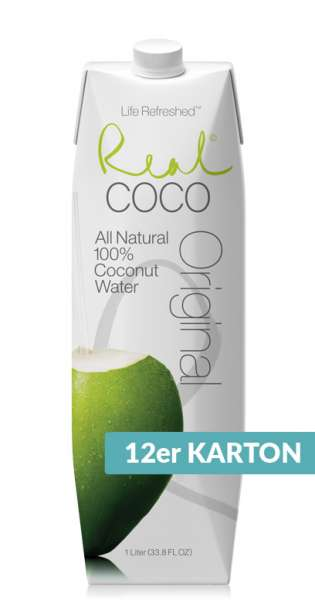 Real Coco - Coconut Water, Pure, 1l - 12 Tetra-Paks