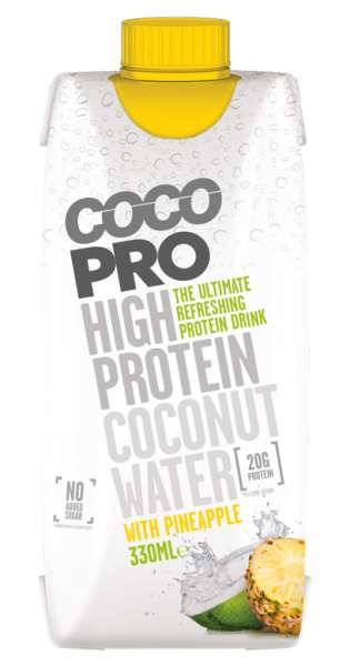 CocoPro - Coconut Water with Protein, Pineapple, 330ml - Tetra-Pak