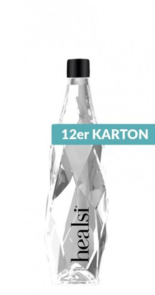 healsi Water - Diamant Flasche, crystal, still, 400ml - 12 Glas-Flaschen