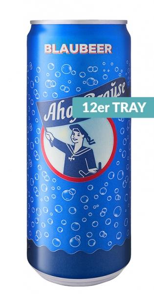 Ahoj Brause Drink - Blaubeere, 330ml - 12 Dosen