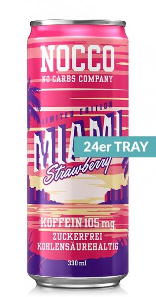 NOCCO BCAA - Miami Strawberry, 0.33l - 24 Cans