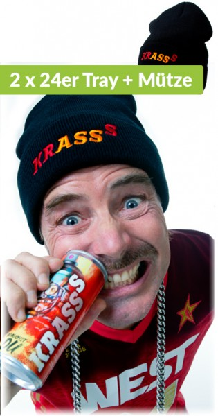 Krasss Drink - Youuu need, Bundle with Krasss cap, 0.25l - 2 x 24 Cans