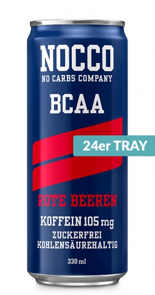 NOCCO BCAA - Red berries, 0.33l - 24 Cans