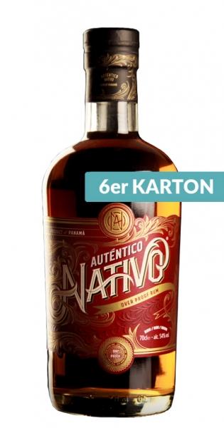 Auténtico Nativo - Overproof Rum, 700ml - 6 Glas-Flaschen