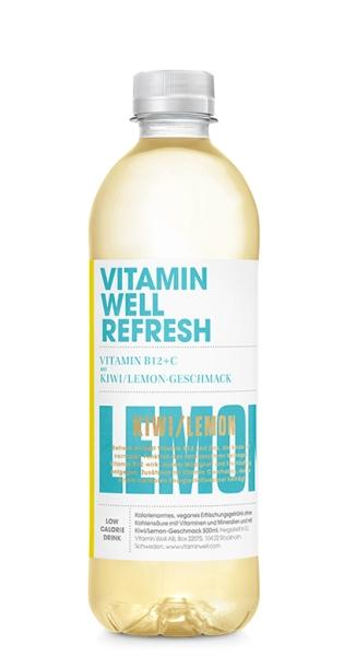 Vitamin Well - Refresh, Kiwi, Lemon, 500ml - PET-Flasche