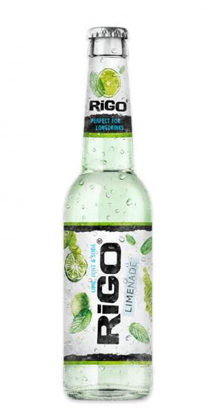 Rigo - Limenade, Lime, Mint and Soda, 330ml - Glas-Flasche