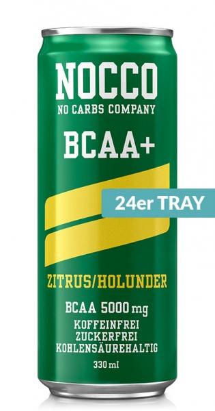 NOCCO BCAA+ - Zitrus, Holunder, 330ml - 24 Dosen