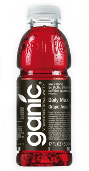 ganic Vitaminwater - Wake Up, Daily Max, Grape Acai Mg, 500ml - PET-Flasche