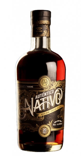 Auténtico Nativo - 20 Years old Rum, 0.7l - Glass Bottle