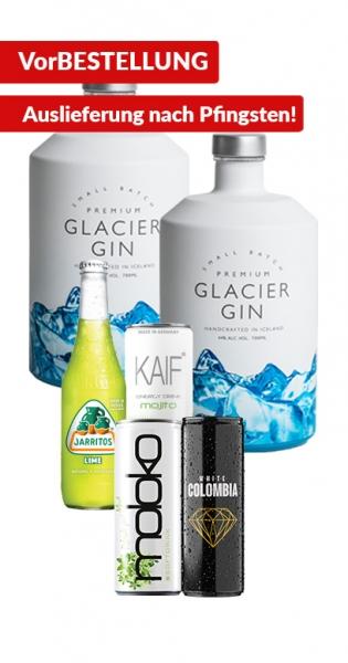 Glacier Gin Bundle - Kaufe 2x Glacier Gin und wir geben 4x Mixer (KAIF Mojito, Jarritos Lime, White