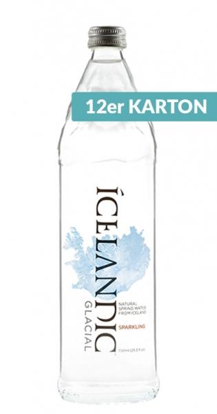 Icelandic Glacial Water - Gletscherwasser, sparkling, 750ml - 12 Glas-Flaschen