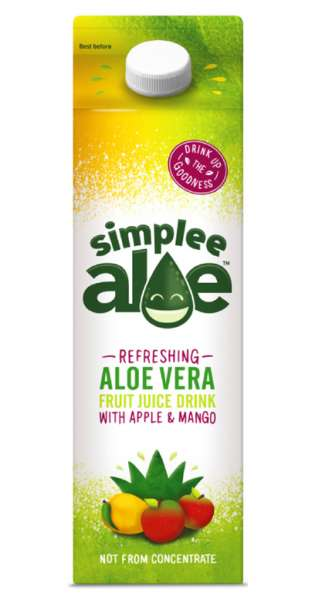 simplee Aloe - Aloe Vera Drink, Mango and Apple, 1l - Tetra-Pak