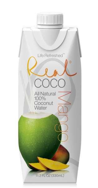 Real Coco - Coconut Water, mango, 330ml - Tetra-Pak