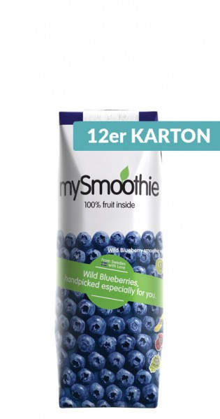 mySmoothie - ohne Kühlung haltbar, Blueberry, 250ml - 12 Tetra-Paks