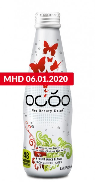 Ocoo - The Beauty Drink, 250ml - Glas-Flasche - MHD Ware 06.01.2020