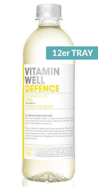 Vitamin Well - Defence, Lemon and Elderflower, 0.5l - 12 PET Bottles