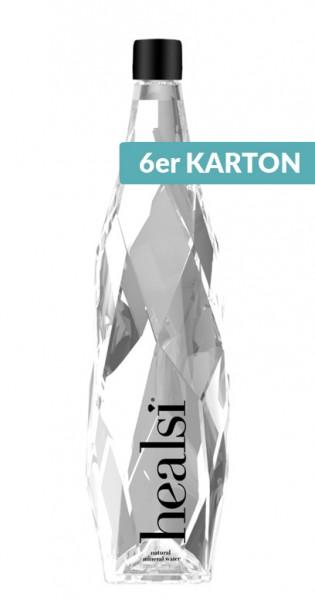 healsi Water - Diamant Flasche, crystal, still, 850ml - 6 Glas-Flaschen
