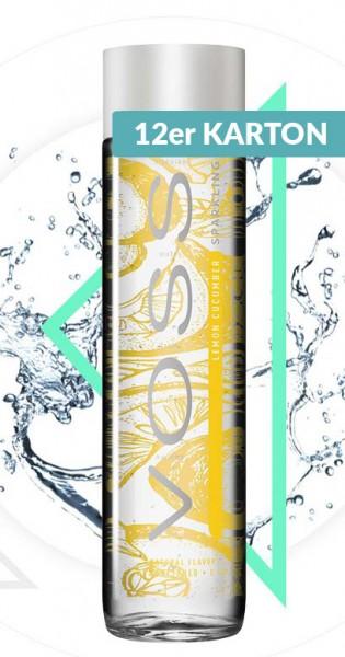 Voss Water - Premium Wasser - Lemon and Cucumber, sparkling, 375ml - 12 Glas-Flaschen