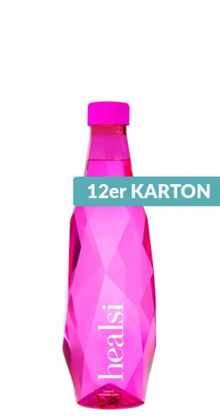 healsi Water - Diamond Bottle, pink, 0.5l - 12 PET Bottles