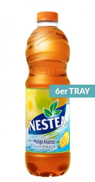 Nestea Ice Tea - Mango Ananas, 1500ml - 6 PET-Flaschen