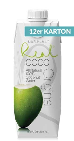 Real Coco - Coconut Water, Pure, 330ml - 12 Tetra-Paks