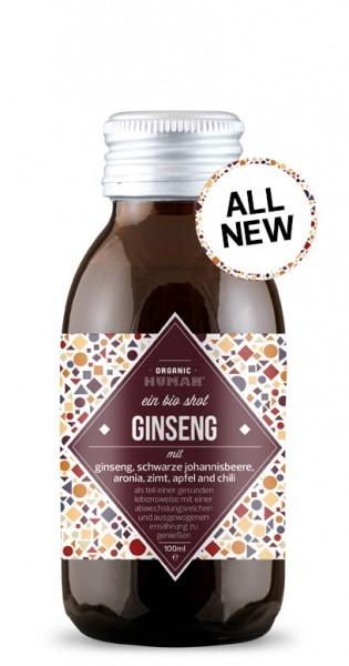 Organic Human - Organic Shot, Ginseng, 100ml - Glas-Flasche