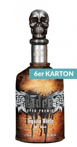 Padre Azul - Tequila Anejo, 700ml - 6 Flaschen mit Ledermaske