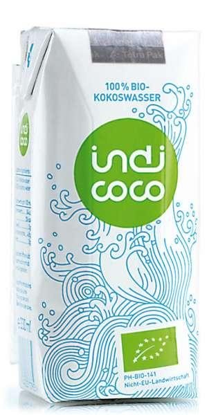 indi coco - Organic Coconut Water, 330ml - Tetra-Pak