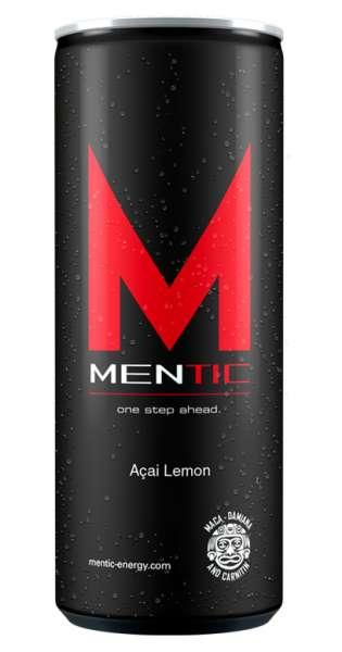 Mentic Energy Drink - Acai und Lemon, 250ml - Dose