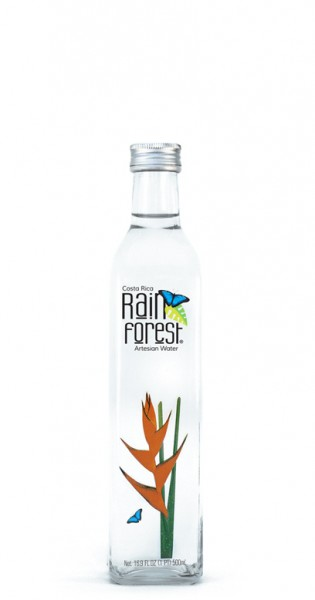Rain Forest Water - Artesian Water from Costa Rica - still, 500ml - Glas-Flasche