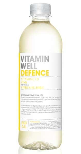 Vitamin Well - Defence, Zitronen und Holunderblüten, 500ml - PET-Flasche