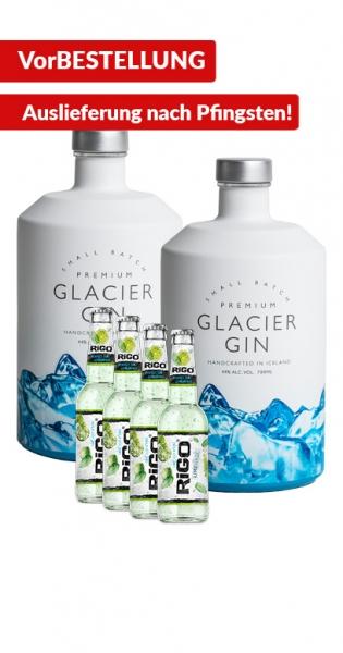 Glacier Gin Bundle - Kaufe 2x Glacier Gin und wir geben 4x RiGO GRATIS dazu!